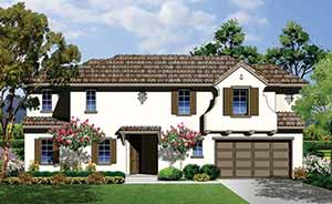 rendering plan 1A front exterior